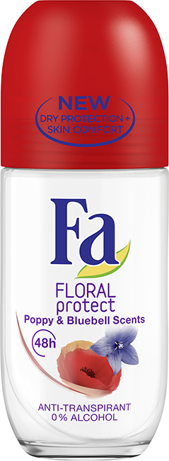 Fa Deoroller Floral Protect Poppy&Bluebell 50 ml