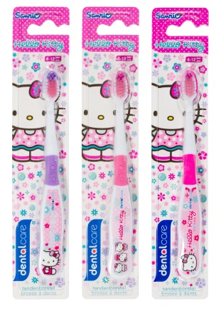 Dermo care tandborstel 5+ jr hello kitty