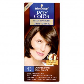 Poly Color Creme Haarverf 43 Donkerbruin