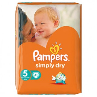 Pampers Luiers Simply Dry Junior 41 stuks