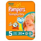 Pampers Luiers Simply Dry Junior 20 stuks